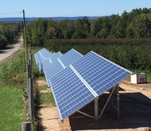 52 kW solar field at King Orchards