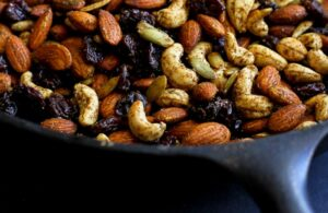 curry spiced nuts with dried cherries recipe